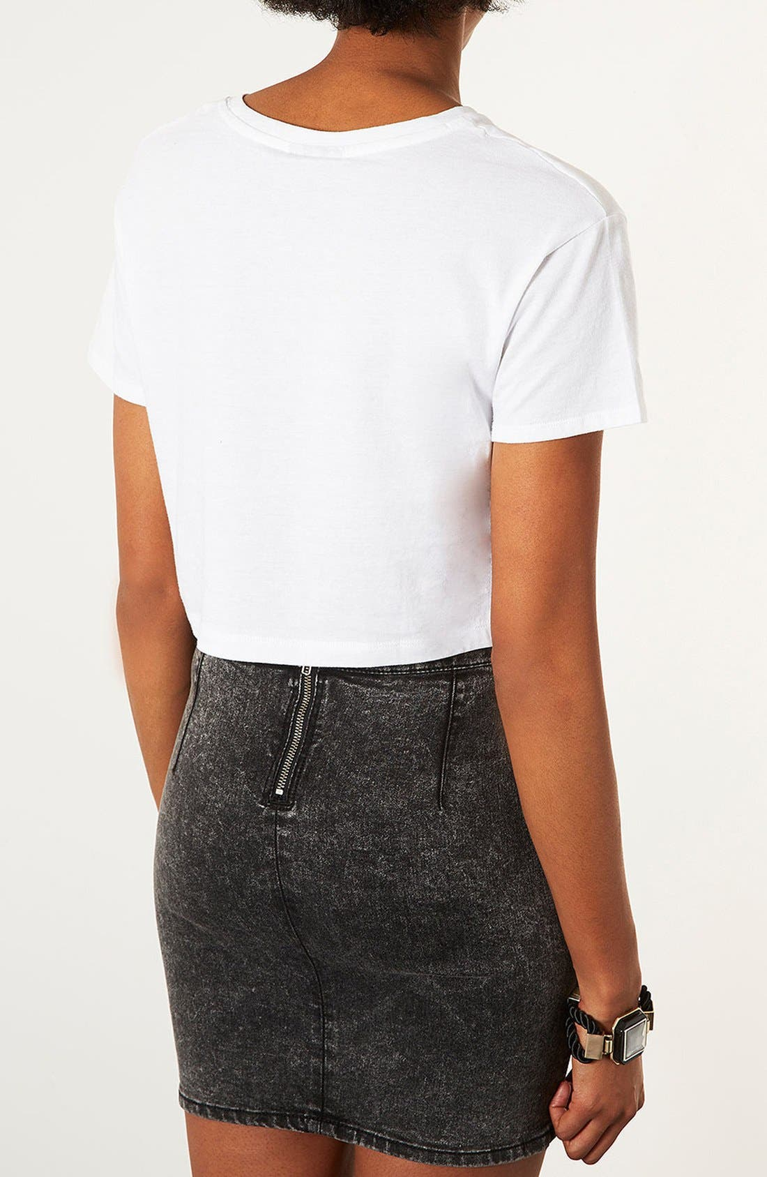 Alternate Image 3  - Topshop 'Tribal Triangle' Crop Tee