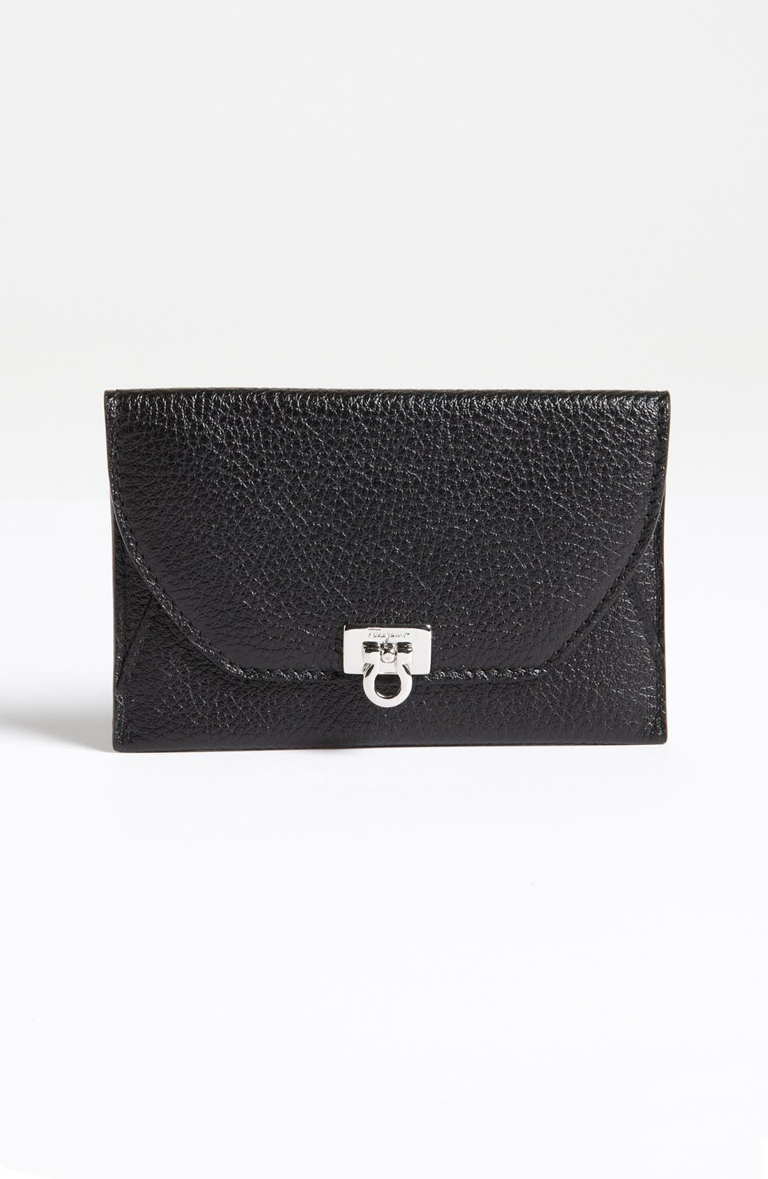 Alternate Image 1 Selected - Salvatore Ferragamo 'Safari' Leather Card Case