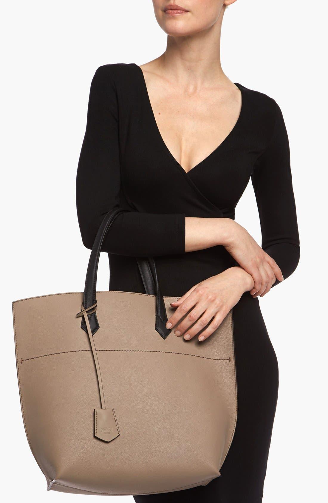 Alternate Image 2  - Fendi 'All In' Leather Shopper