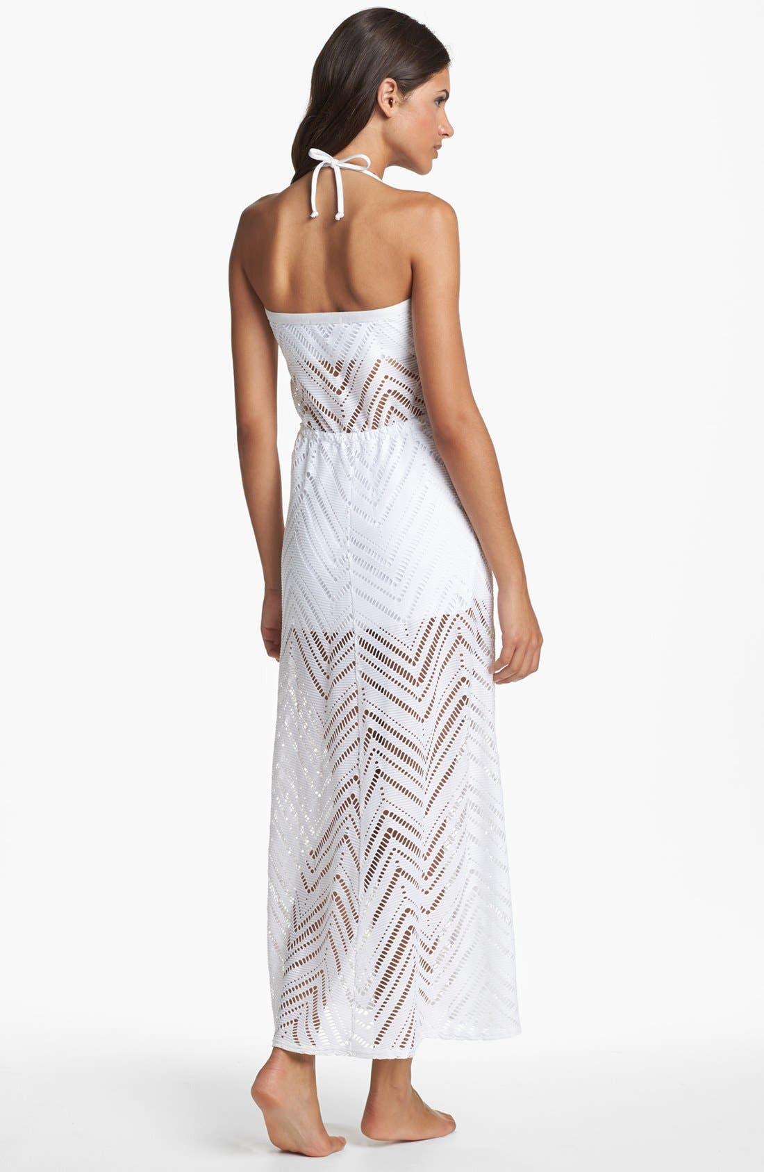 Alternate Image 2  - Robin Piccone Crochet Overlay Cover-Up Dress