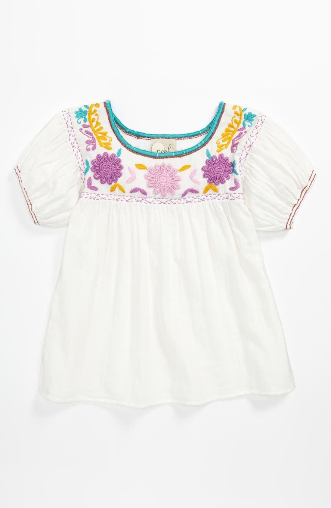 Alternate Image 1 Selected - Peek 'Ashley' Top (Toddler, Little Girls & Big Girls)