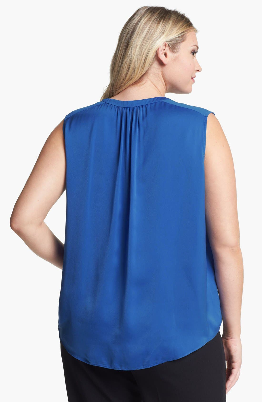 Alternate Image 2  - DKNYC Sleeveless V-Neck Top (Plus Size)