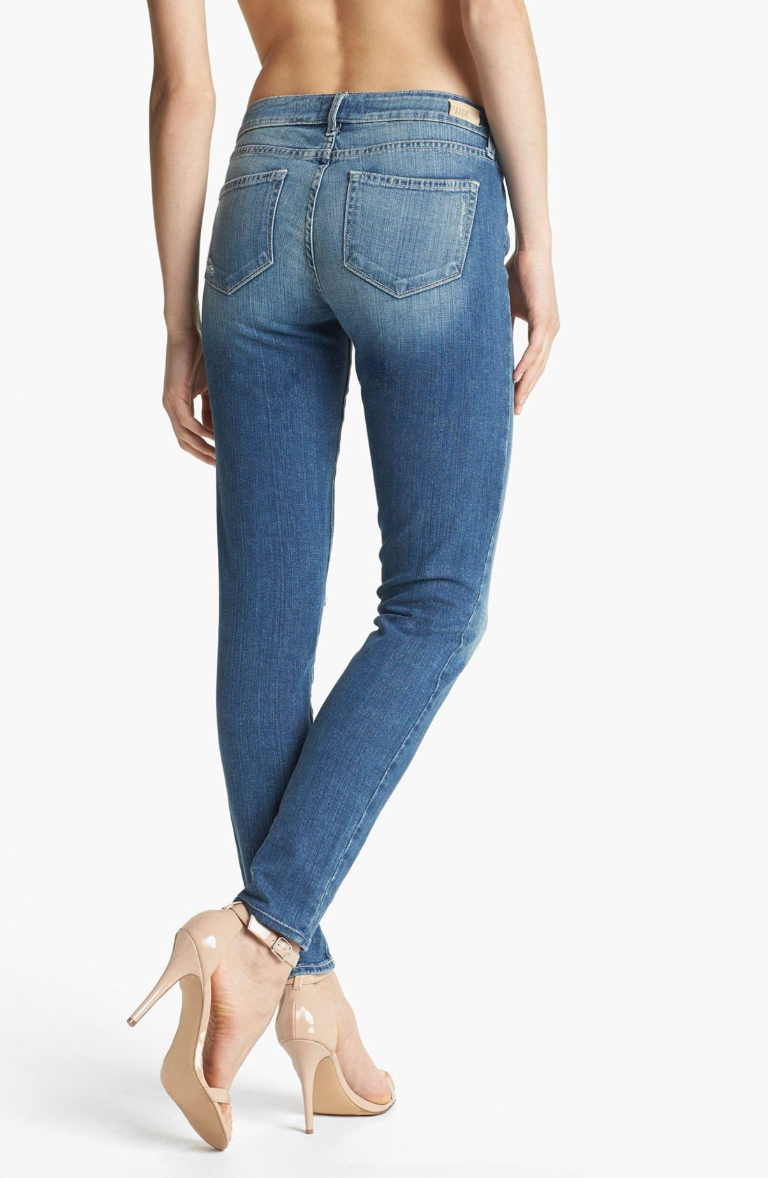 Alternate Image 2  - Paige Denim 'Verdugo' Ultra Skinny Jeans (Lynn Destructed)