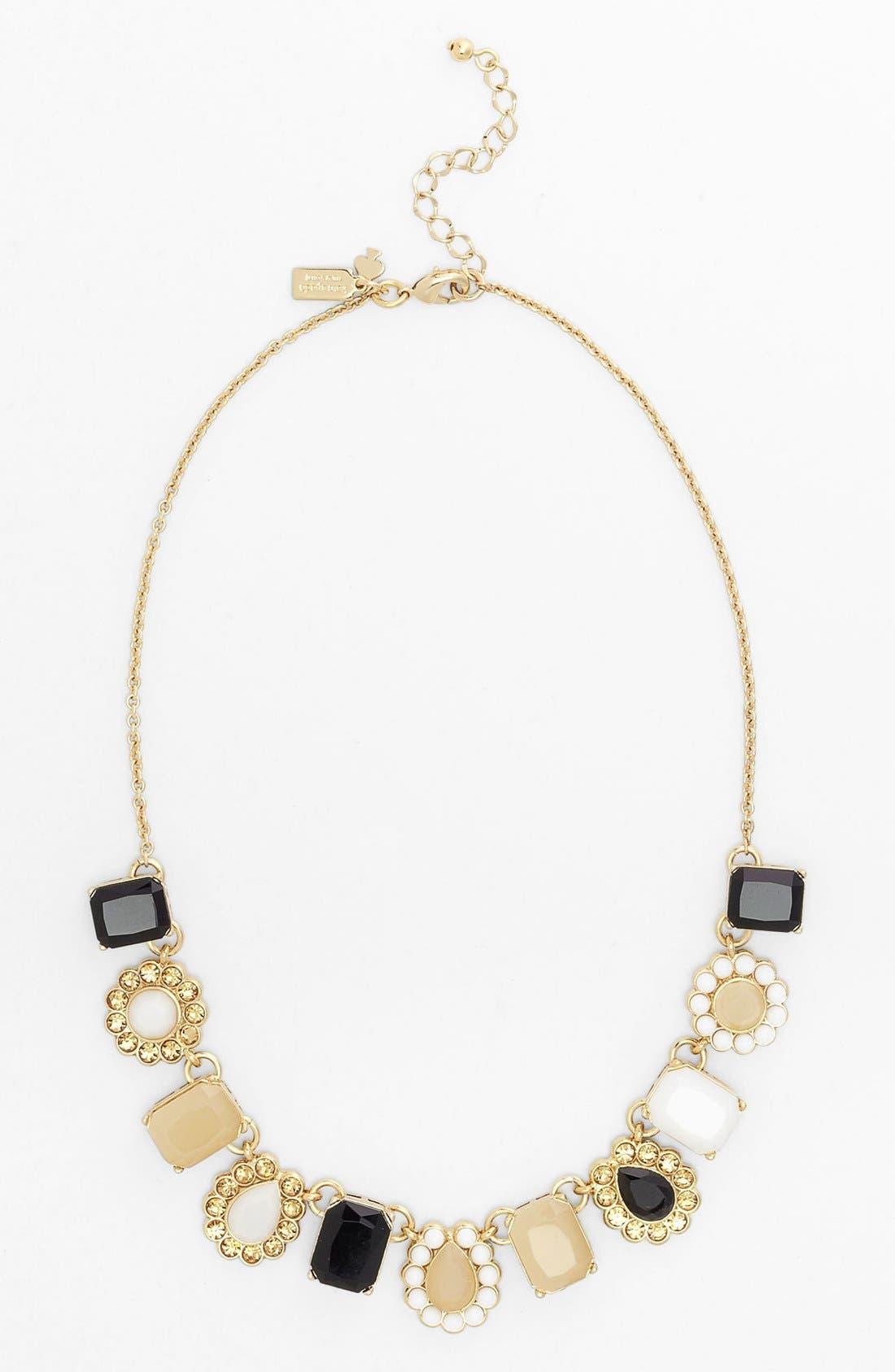 Alternate Image 2  - kate spade new york 'run around' framed stone collar necklace