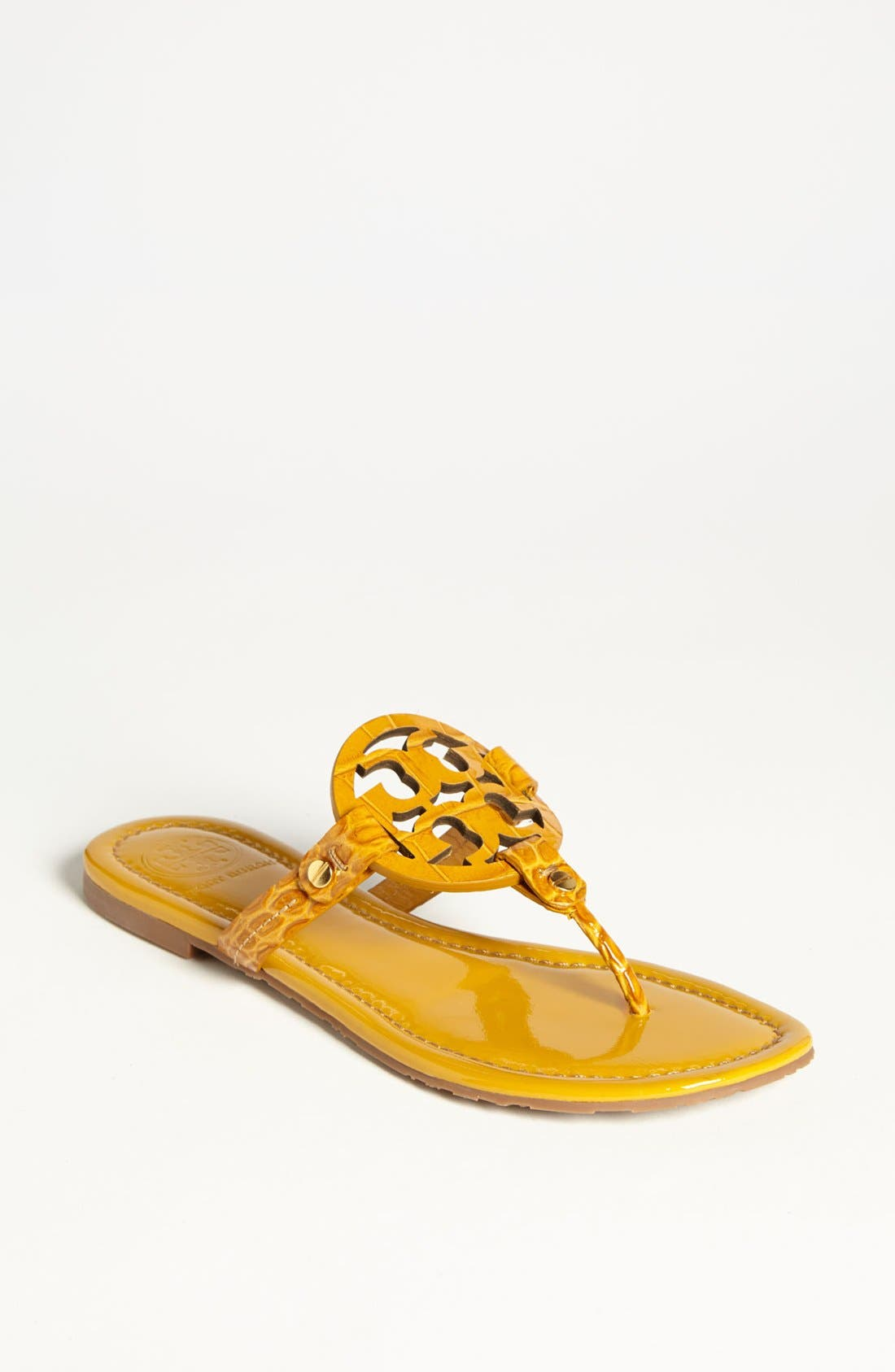 Alternate Image 1 Selected - Tory Burch 'Miller' Croc Embossed Sandal (Online Only)