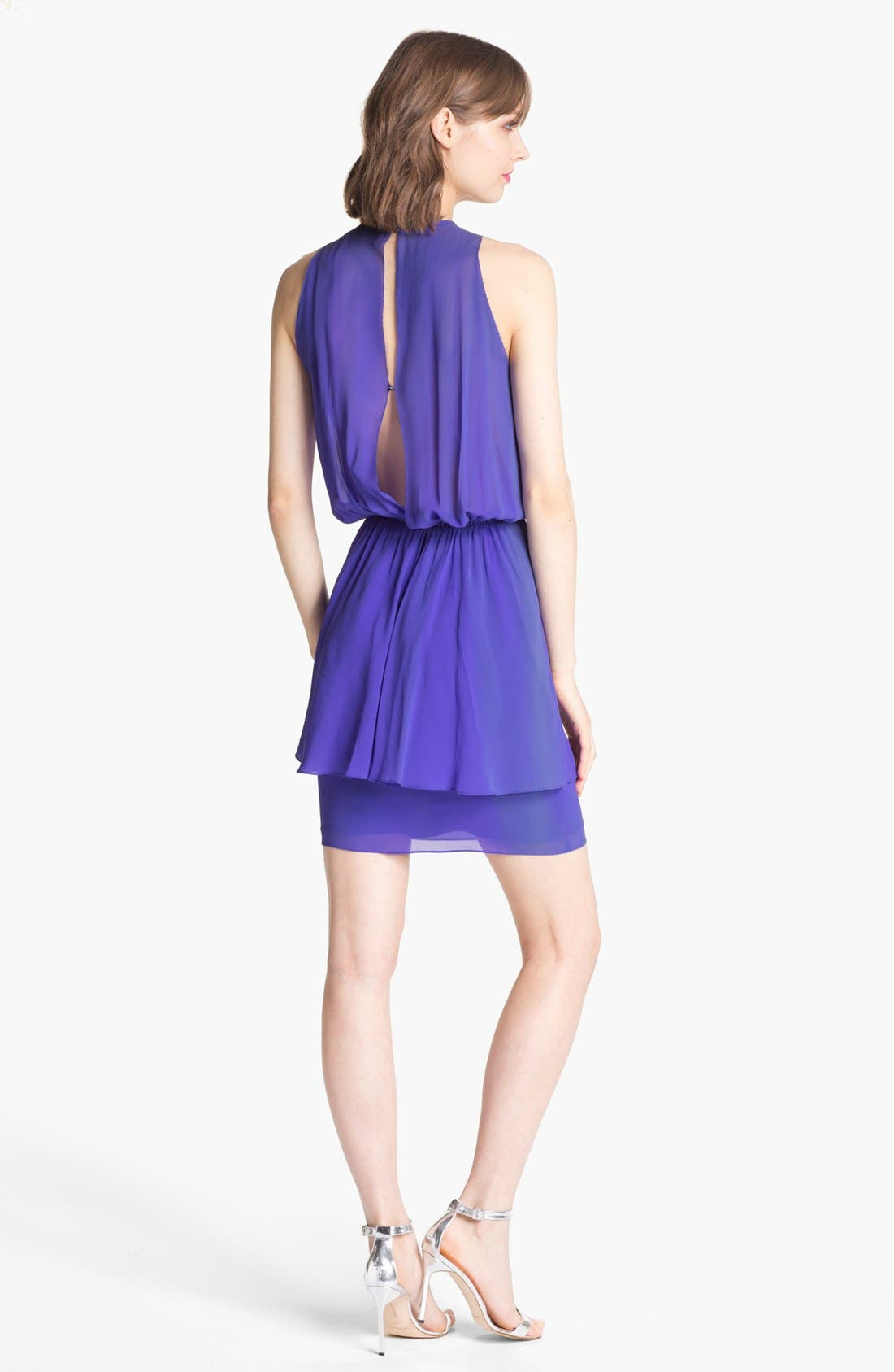 Alternate Image 2  - Nicole Miller Blouson Peplum Dress
