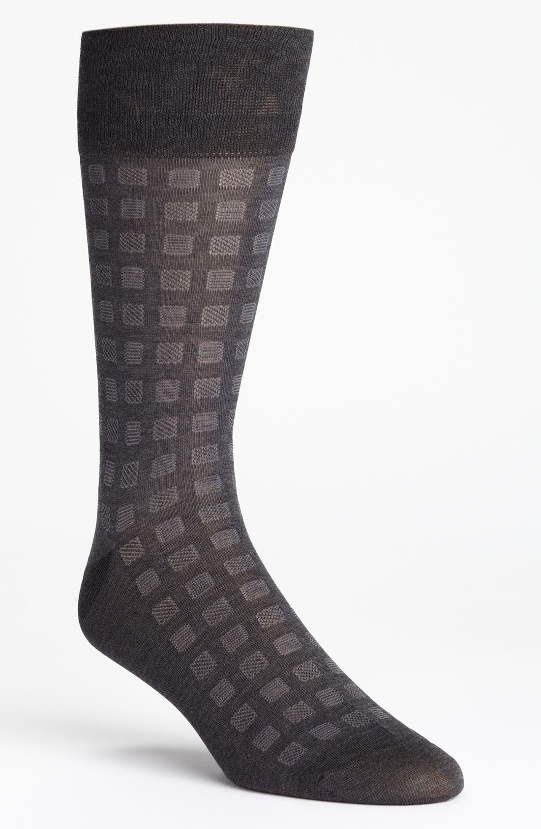 Alternate Image 1 Selected - John W. Nordstrom® Geometric Print Socks