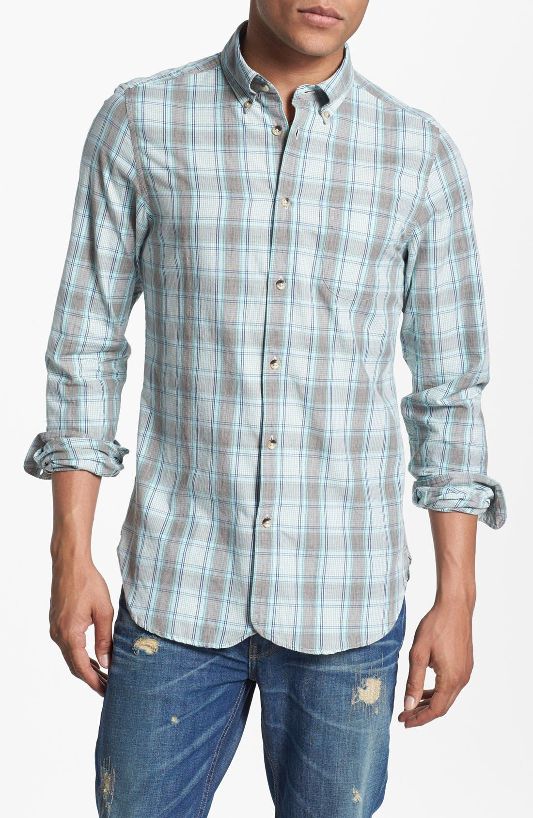 Alternate Image 1 Selected - Ben Sherman Plaid Woven Shirt