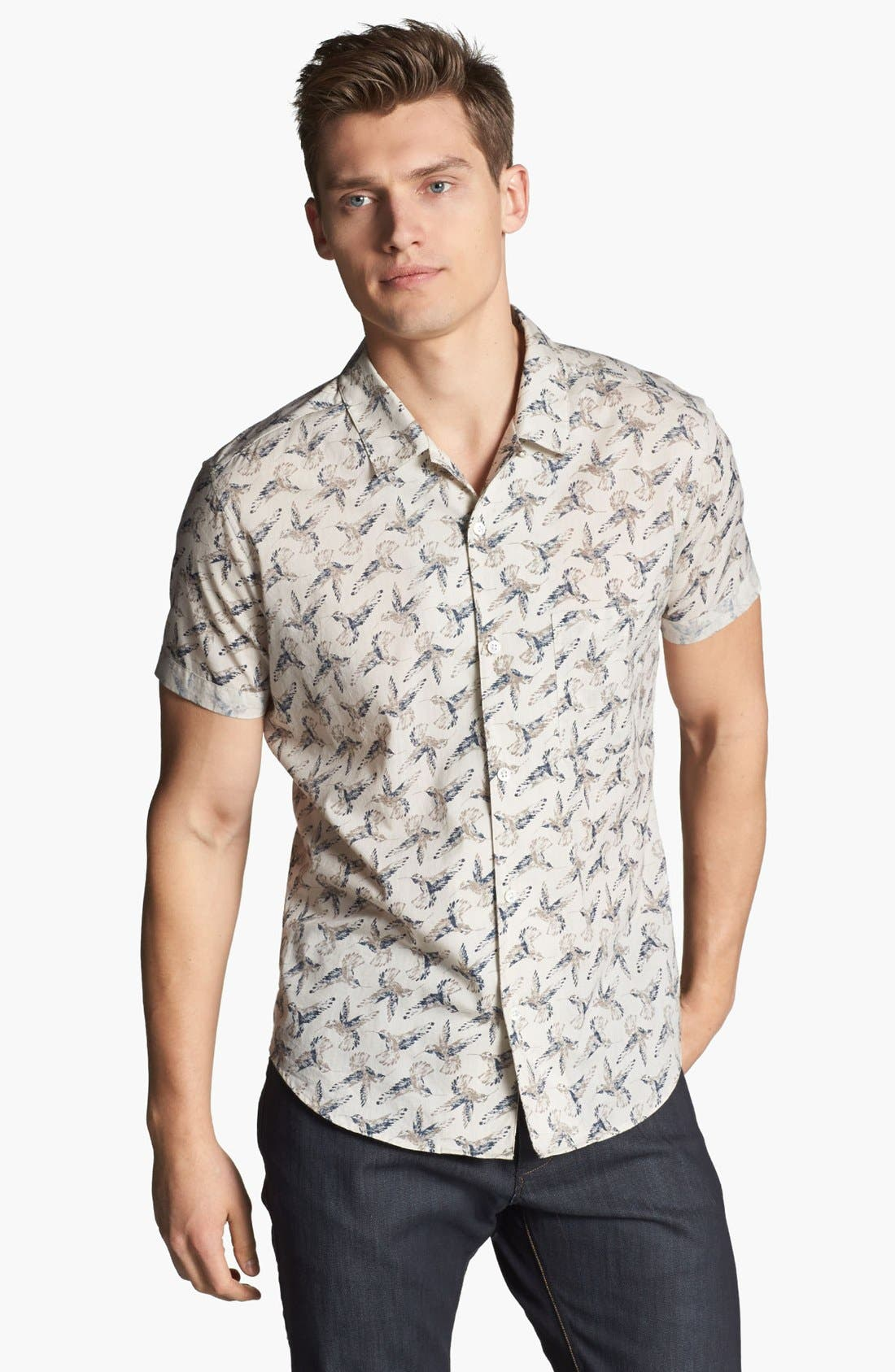 Alternate Image 1 Selected - Theory 'Ludwyk' Short Sleeve Sport Shirt