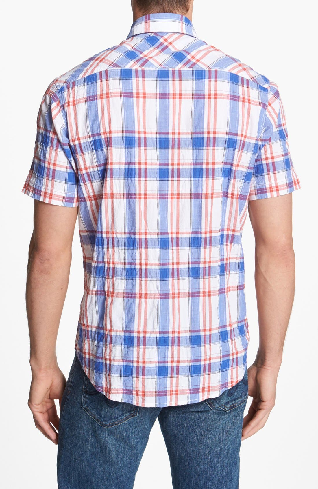 Alternate Image 2  - James Campbell Short Sleeve Sport Shirt