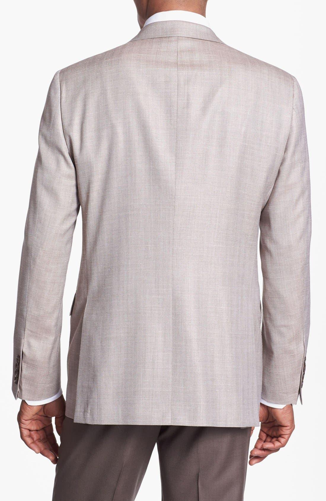 Alternate Image 3  - Hickey Freeman Wool Blend Sportcoat