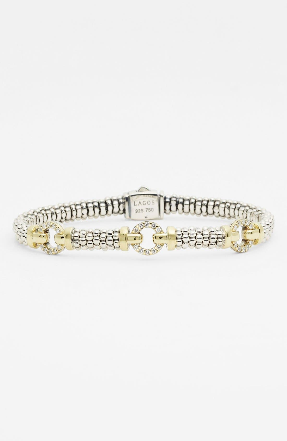 Alternate Image 1 Selected - Lagos Caviar™ Diamond 'O' Bracelet (Online Only)