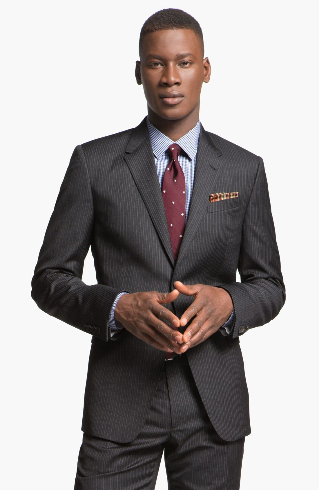 Alternate Image 4  - Paul Smith London Slim Fit Shadow Pinstripe Wool Suit