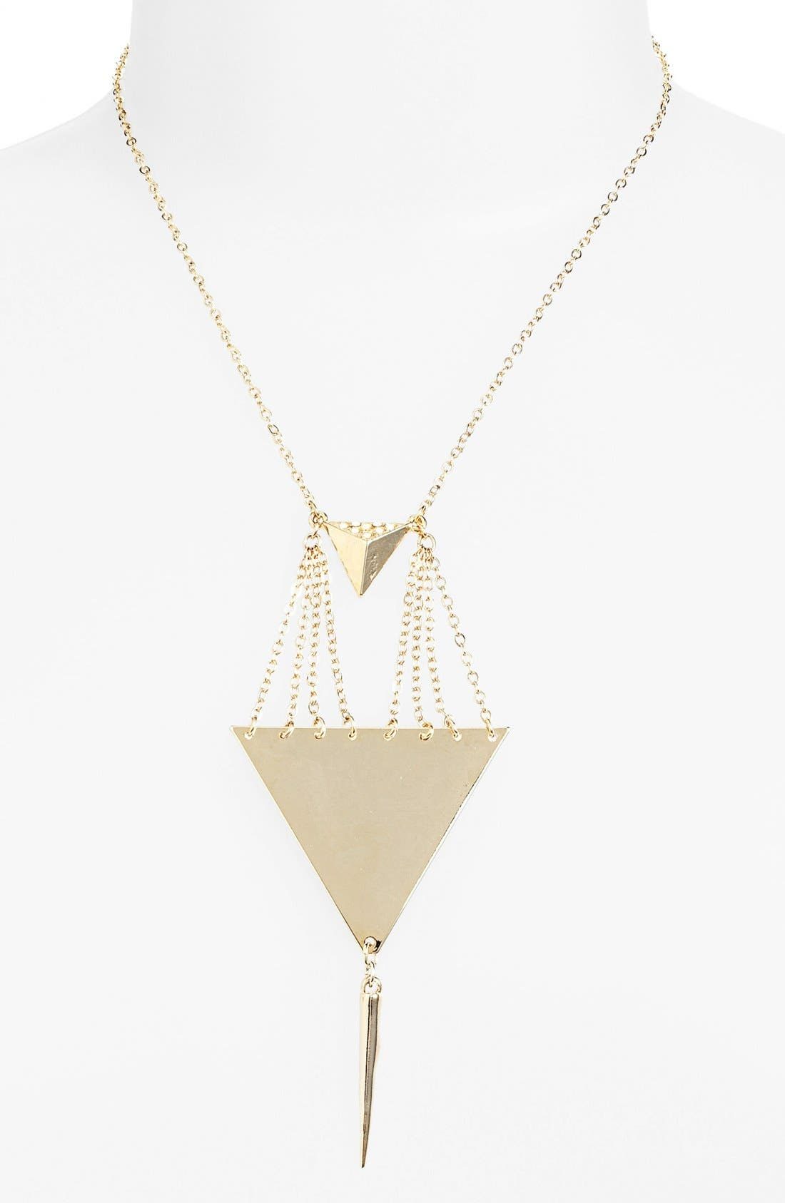 Main Image - Rachel Triangle Drop Necklace (Online Only)