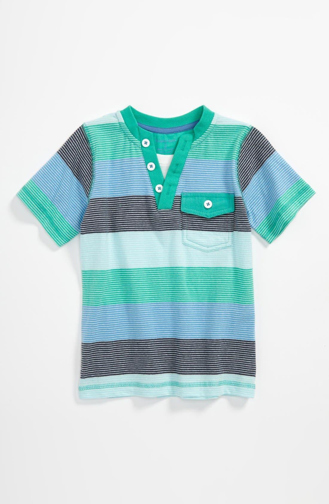 Alternate Image 1 Selected - Pumpkin Patch Stripe T-Shirt (Toddler)