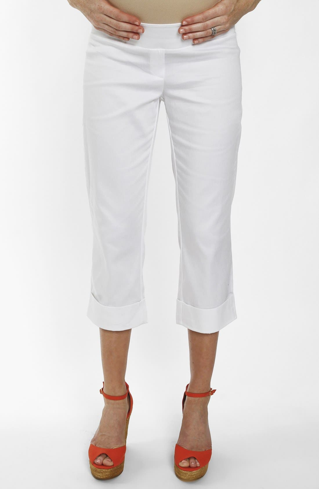 Alternate Image 1 Selected - Everly Grey 'Carrie' Cropped Maternity Pants
