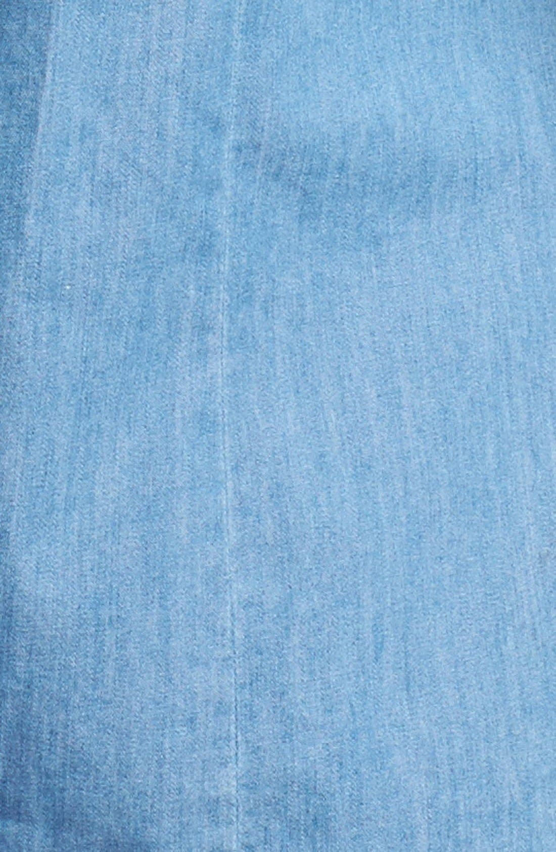 Alternate Image 3  - Foxcroft Roll Sleeve Denim Shirt