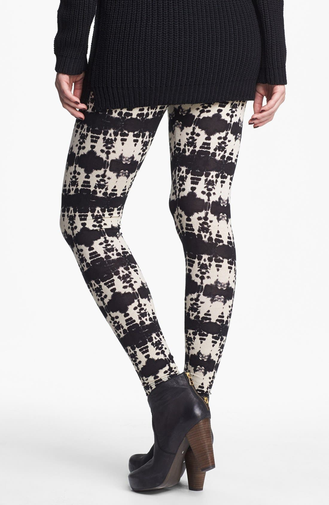 Alternate Image 2  - h.i.p. Print Leggings (Juniors) (Online Only)