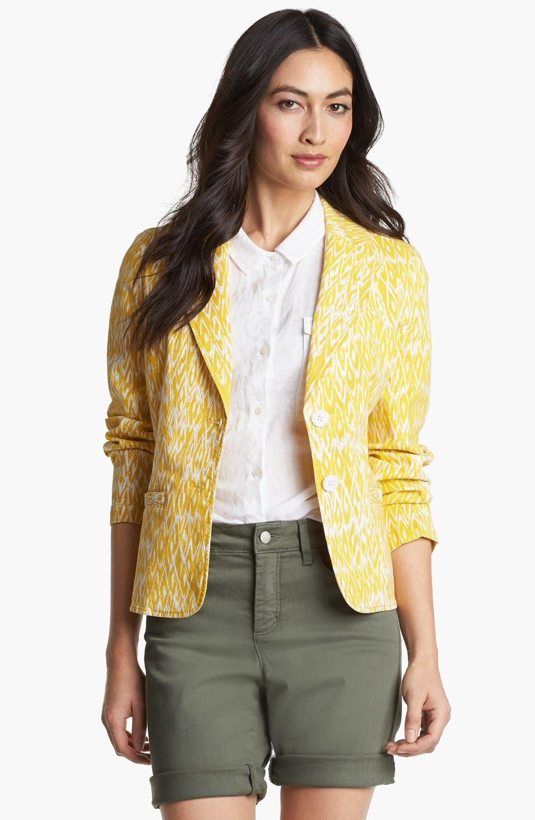 Alternate Image 1 Selected - Amber Sun 'Megan' Print Blazer