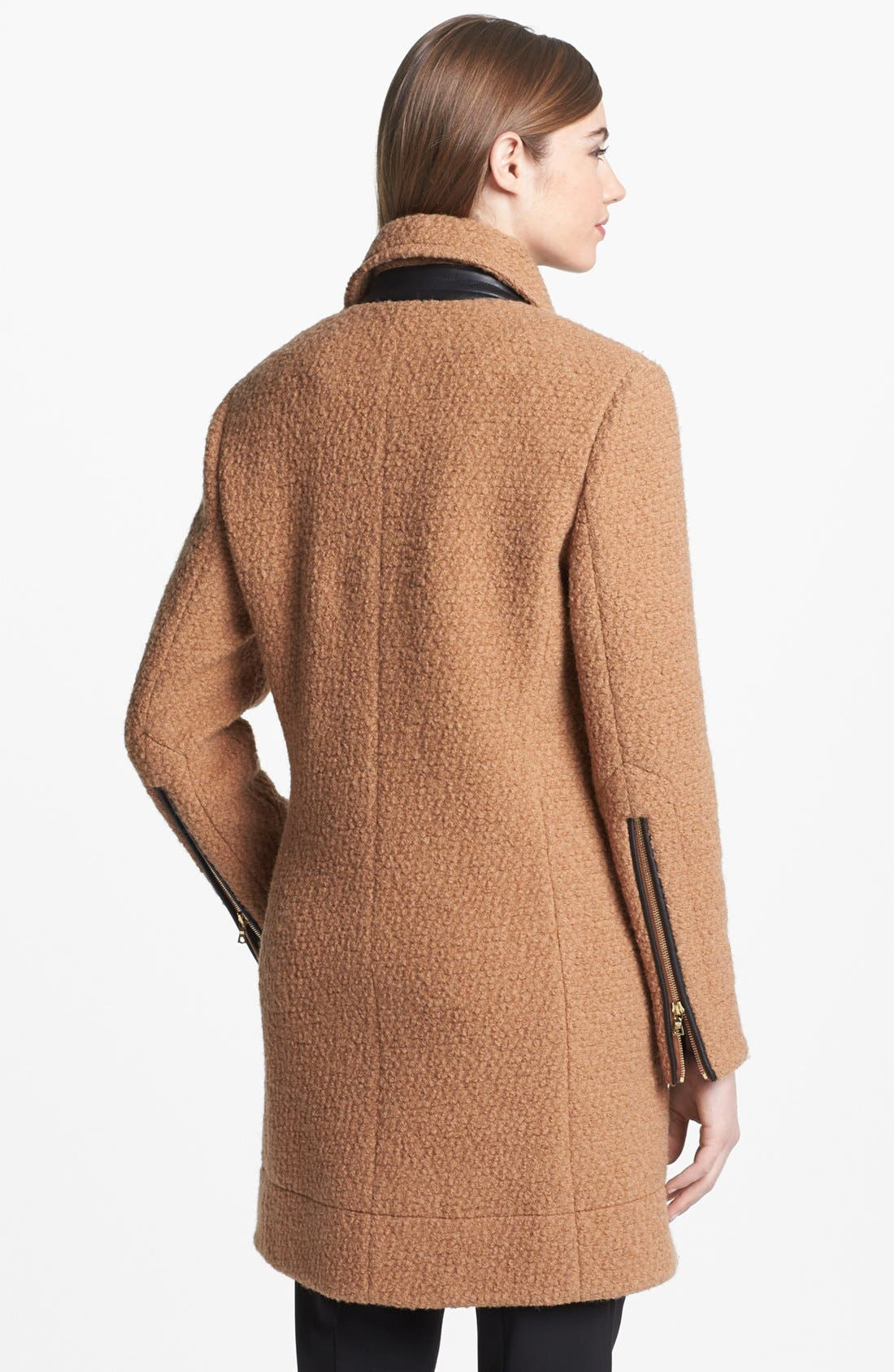 Alternate Image 3  - Calvin Klein Asymmetrical Bouclé Jacket