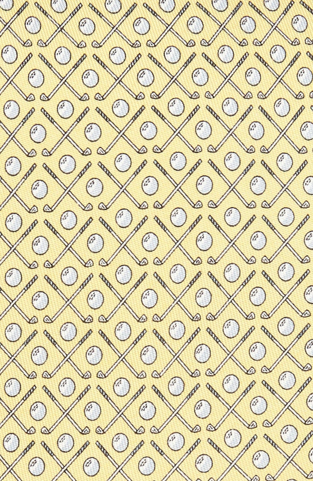 Golf Clubs Silk Tie,                             Alternate thumbnail 2, color,                             Yellow