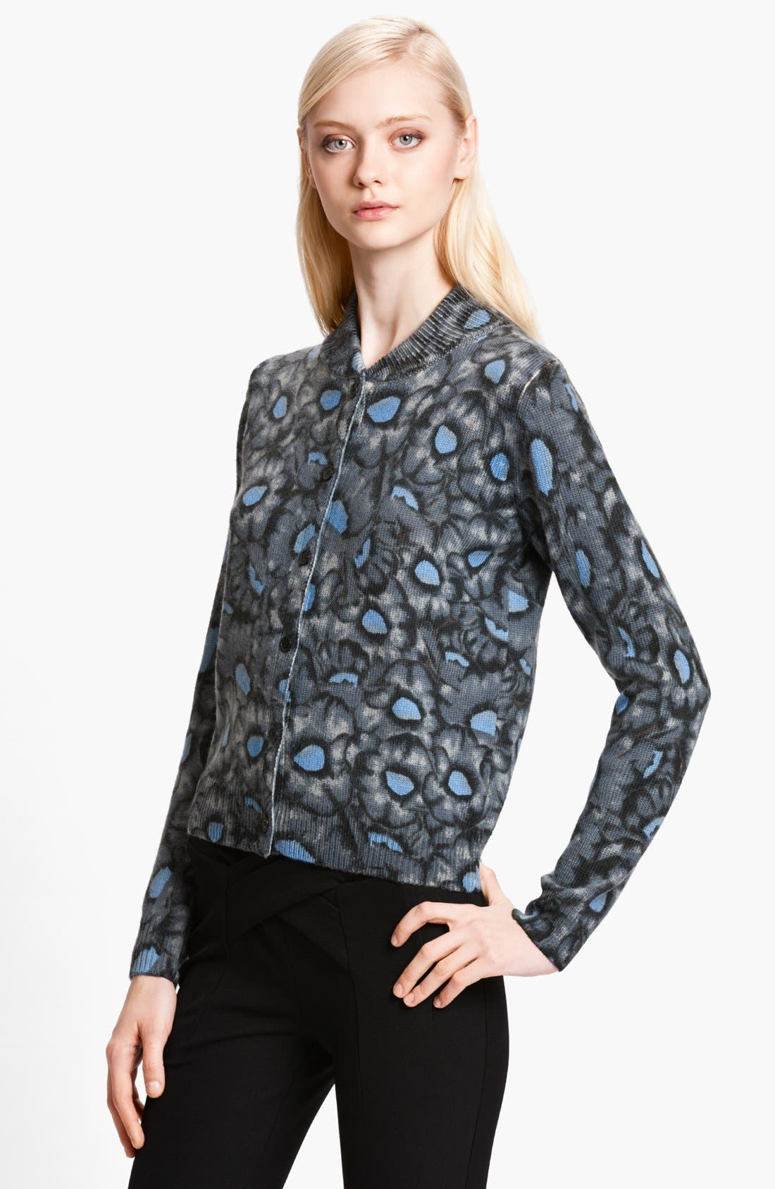 Alternate Image 1 Selected - KENZO Flower Print Cardigan