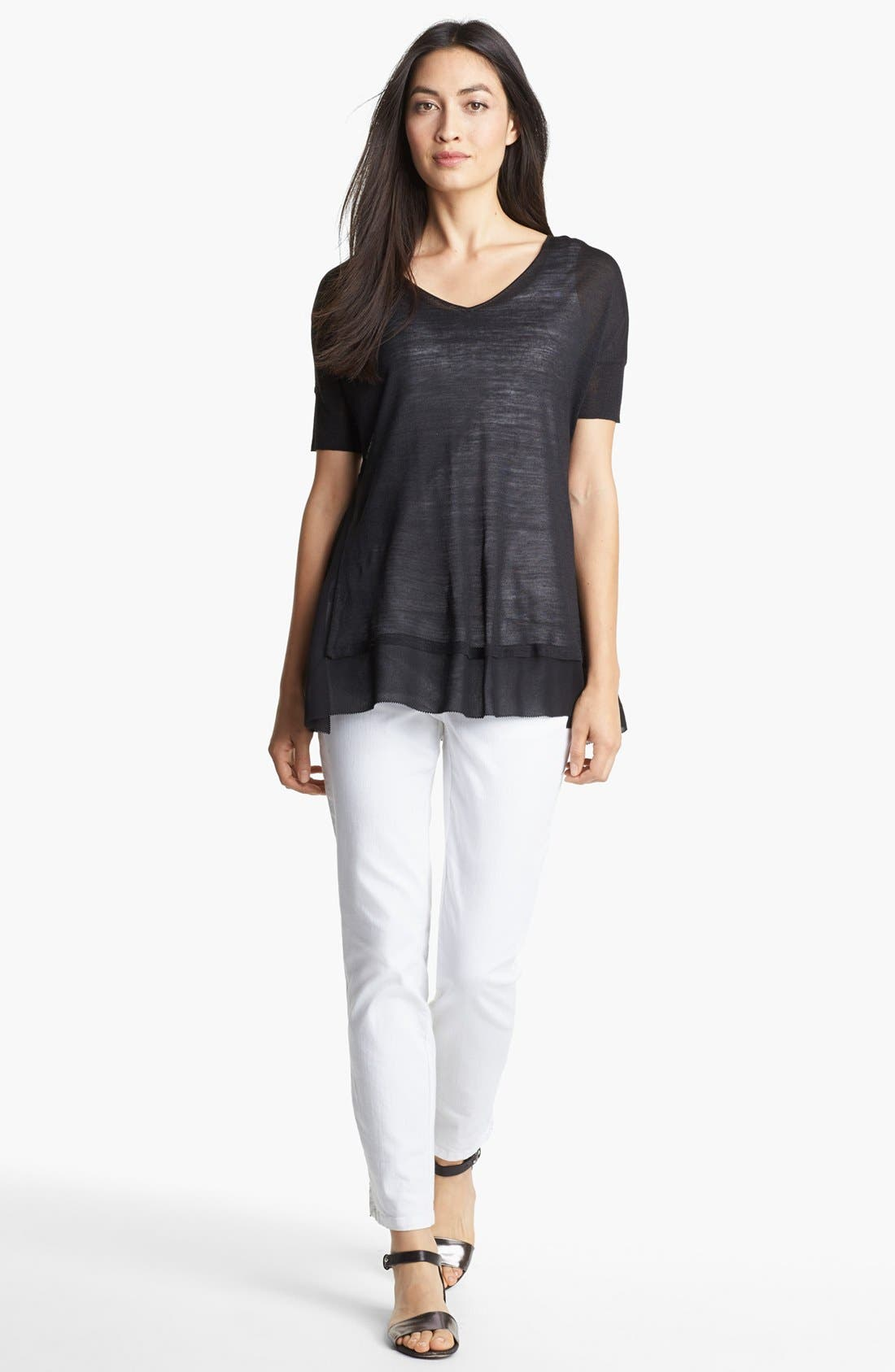 Alternate Image 3  - Eileen Fisher V-Neck Boxy Top