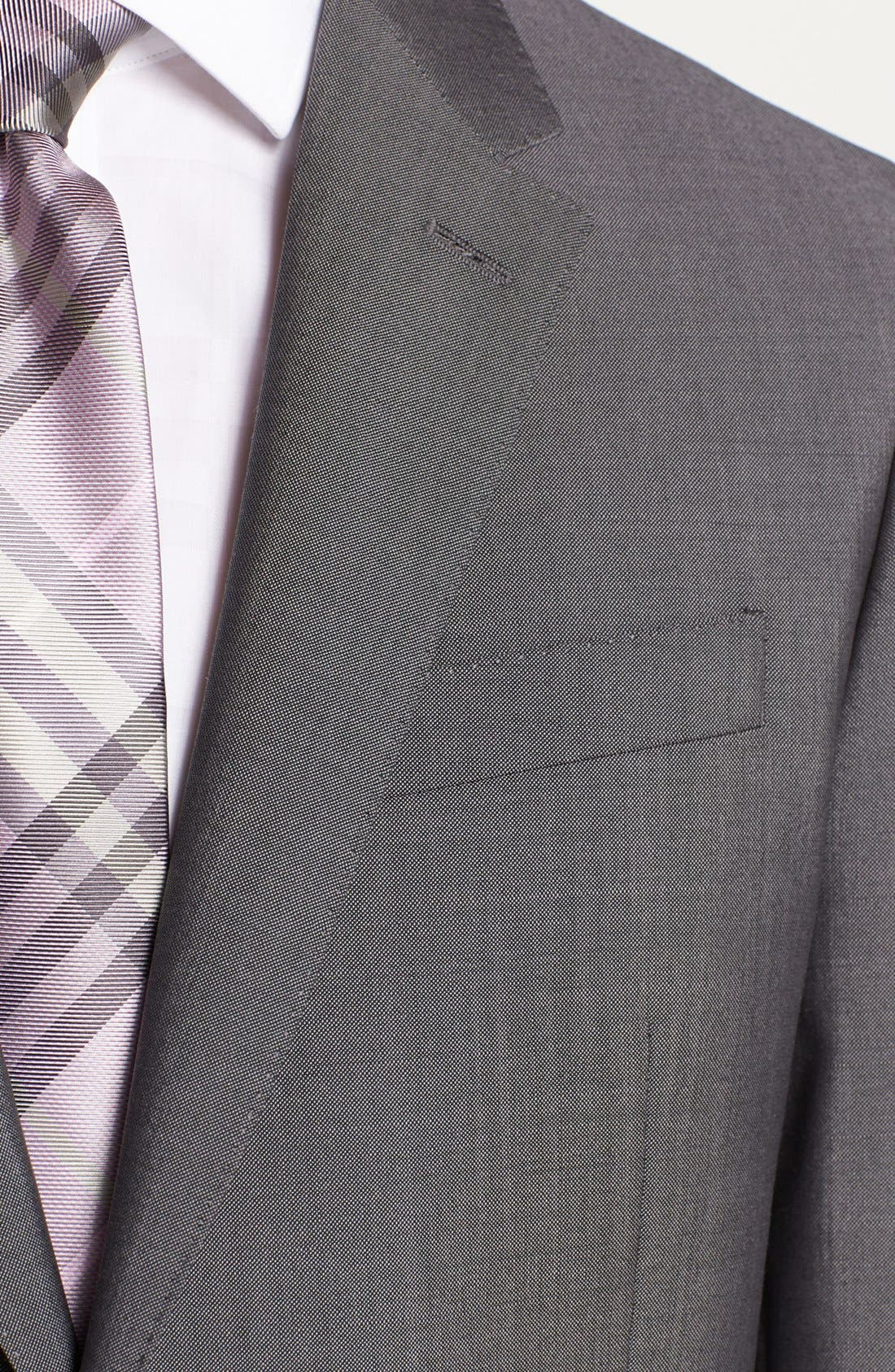 Alternate Image 2  - Burberry London Trim Fit Grey Wool & Mohair Suit