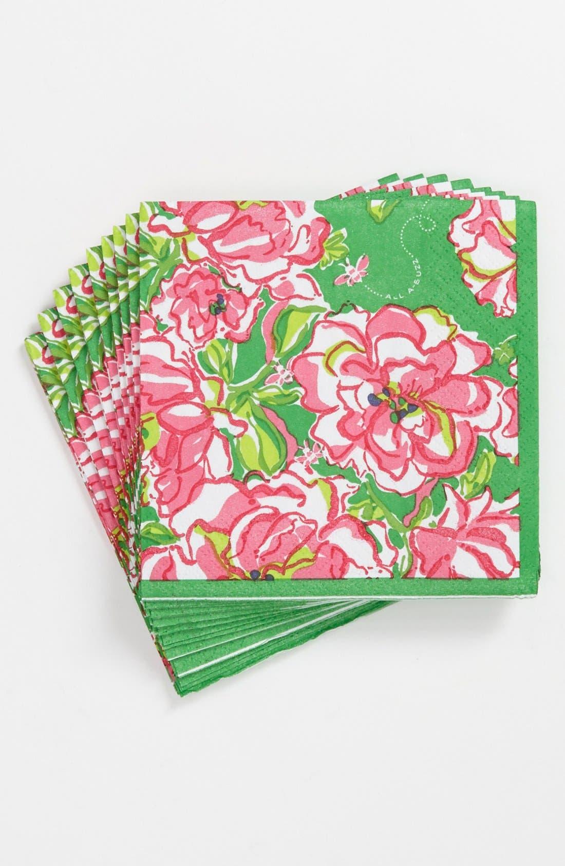 Alternate Image 1 Selected - Lilly Pulitzer® Floral Print Beverage Napkins (Set of 20)