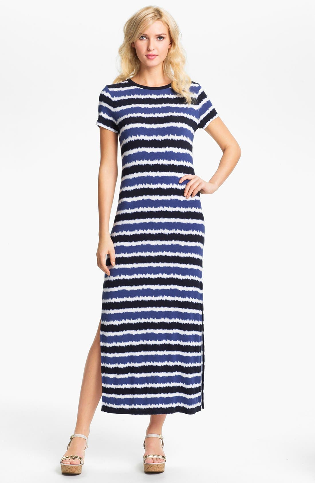Alternate Image 1 Selected - MICHAEL Michael Kors Crewneck Maxi Dress (Petite)