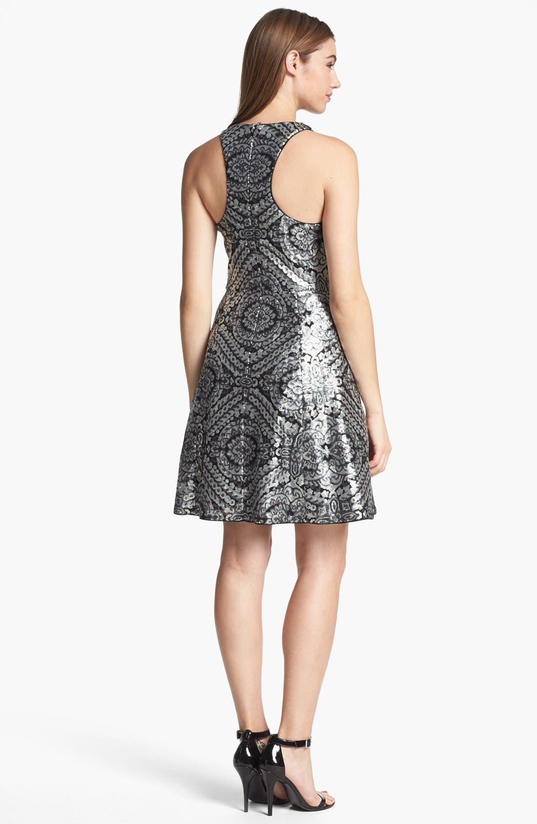 Alternate Image 2  - Adrianna Papell Racerback Sequin Dress