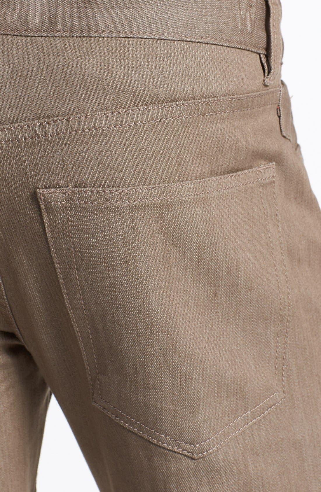Alternate Image 4  - Williamsburg Garment Company 'S. 4th Street' Skinny Stretch Fit Jeans (Raw Tan)