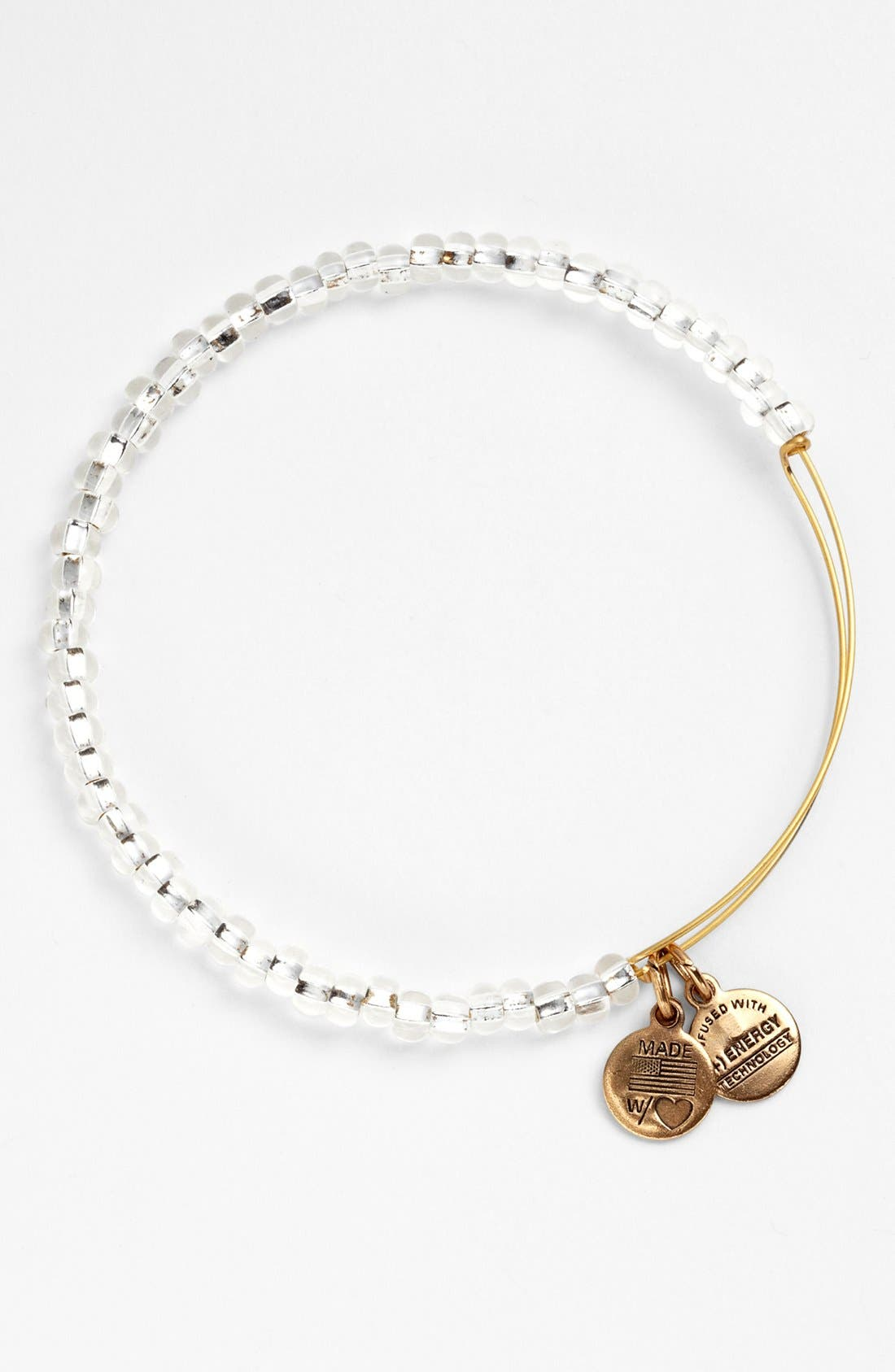 Main Image - Alex and Ani 'Shimmering Sea Bead' Expandable Wire Bangle