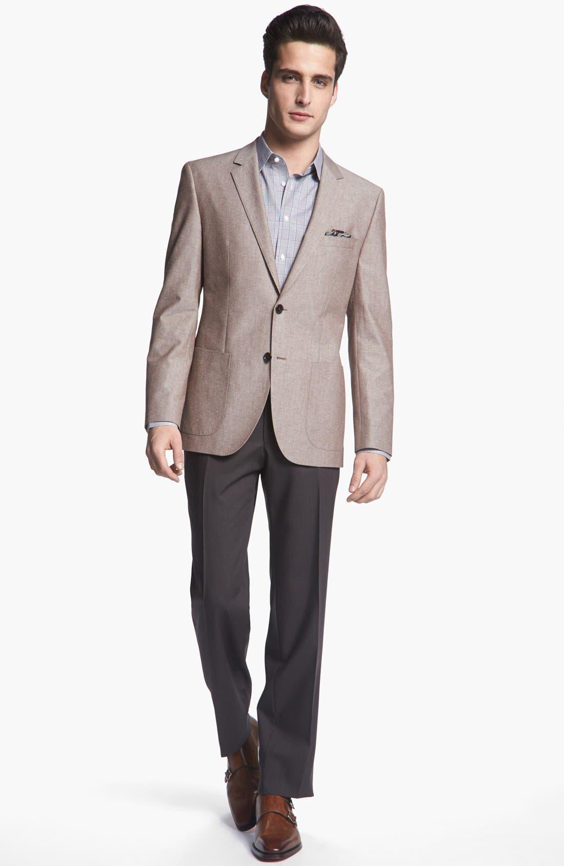 Alternate Image 4  - BOSS HUGO BOSS 'Jesse' Trim Fit Cotton Blazer