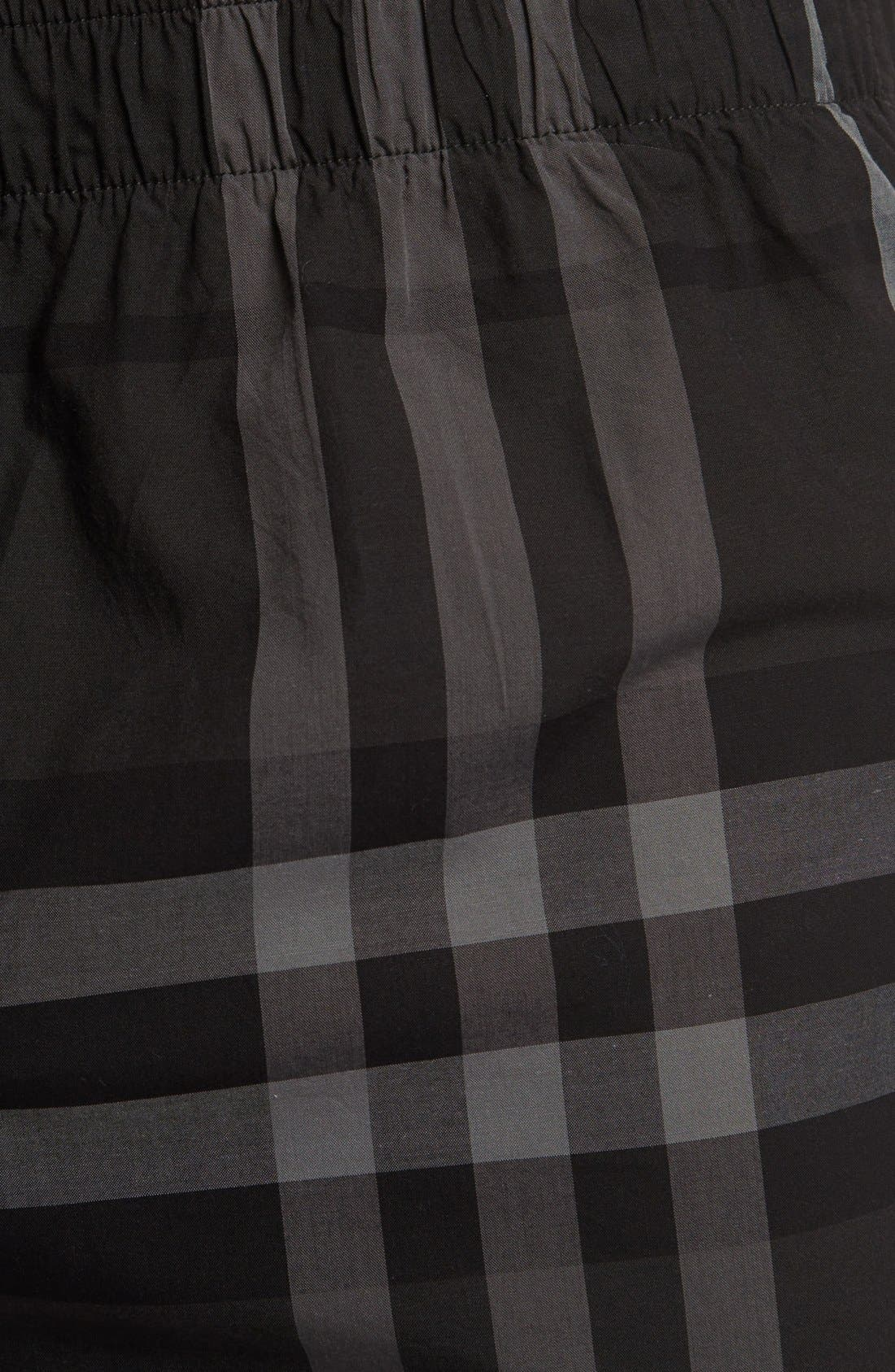 Alternate Image 3  - Burberry Check Print Woven Boxers