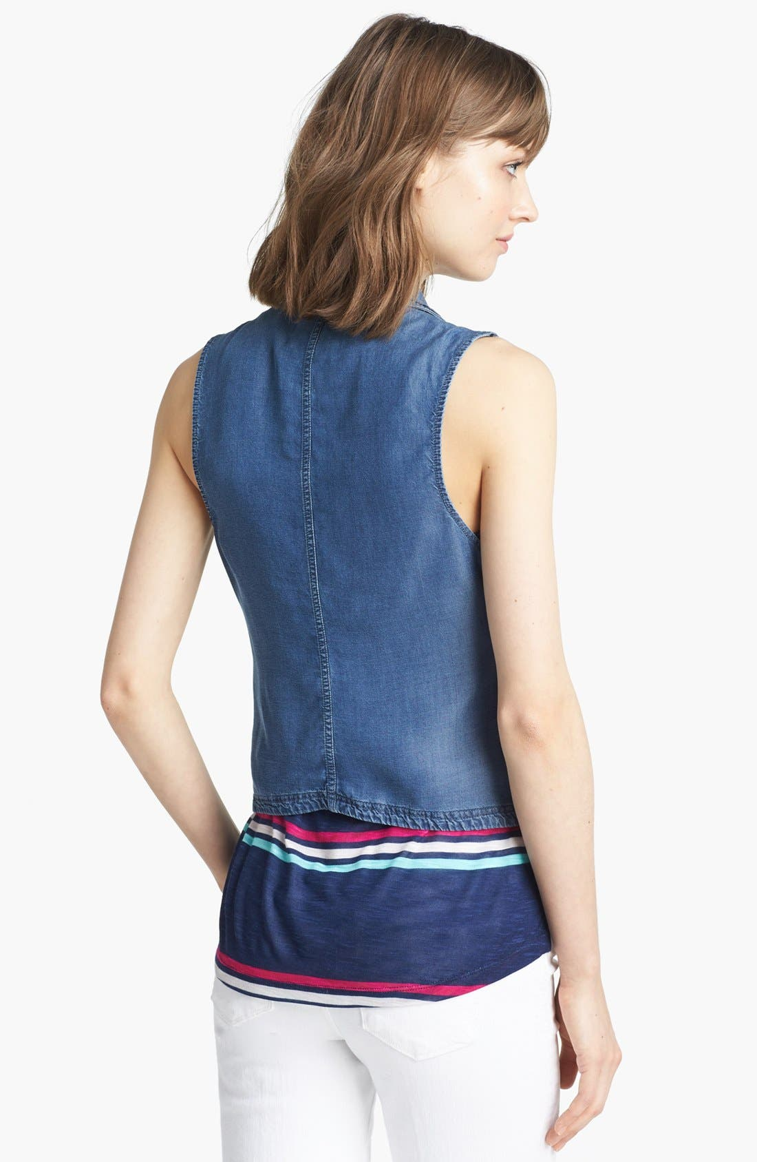 Alternate Image 2  - Splendid Chambray Moto Vest