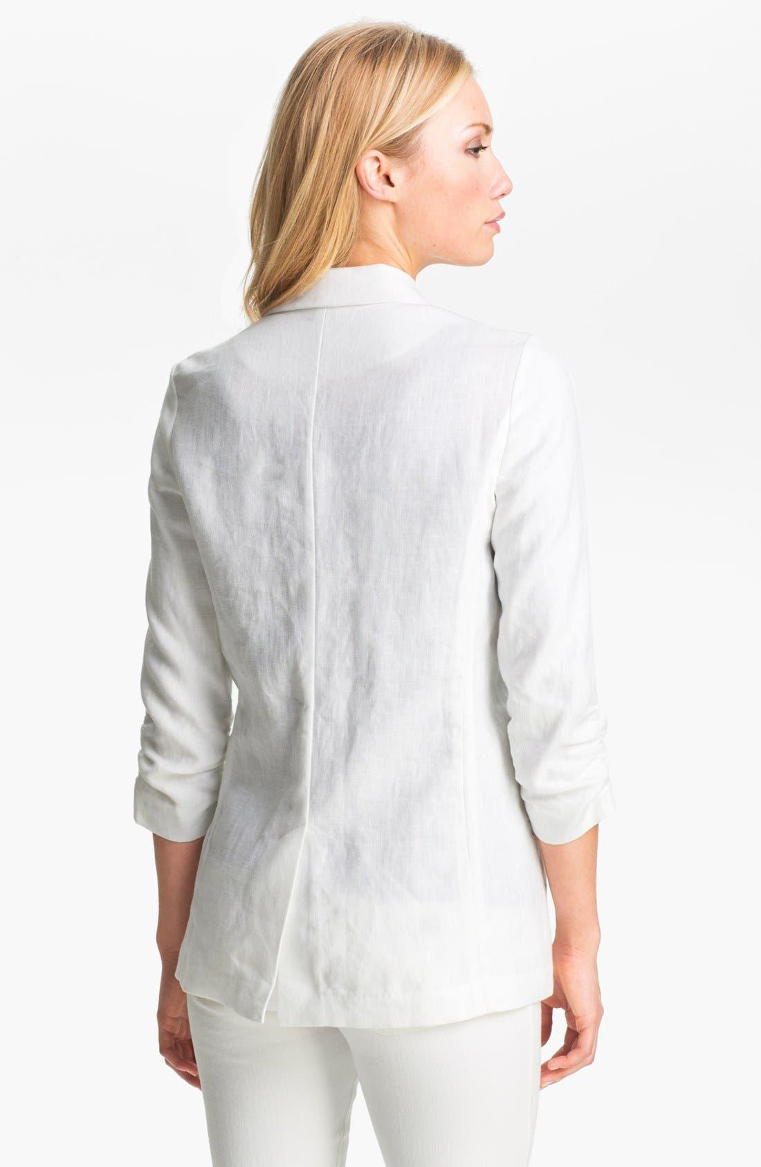 Alternate Image 2  - MICHAEL Michael Kors Shirred Sleeve Jacket (Petite)