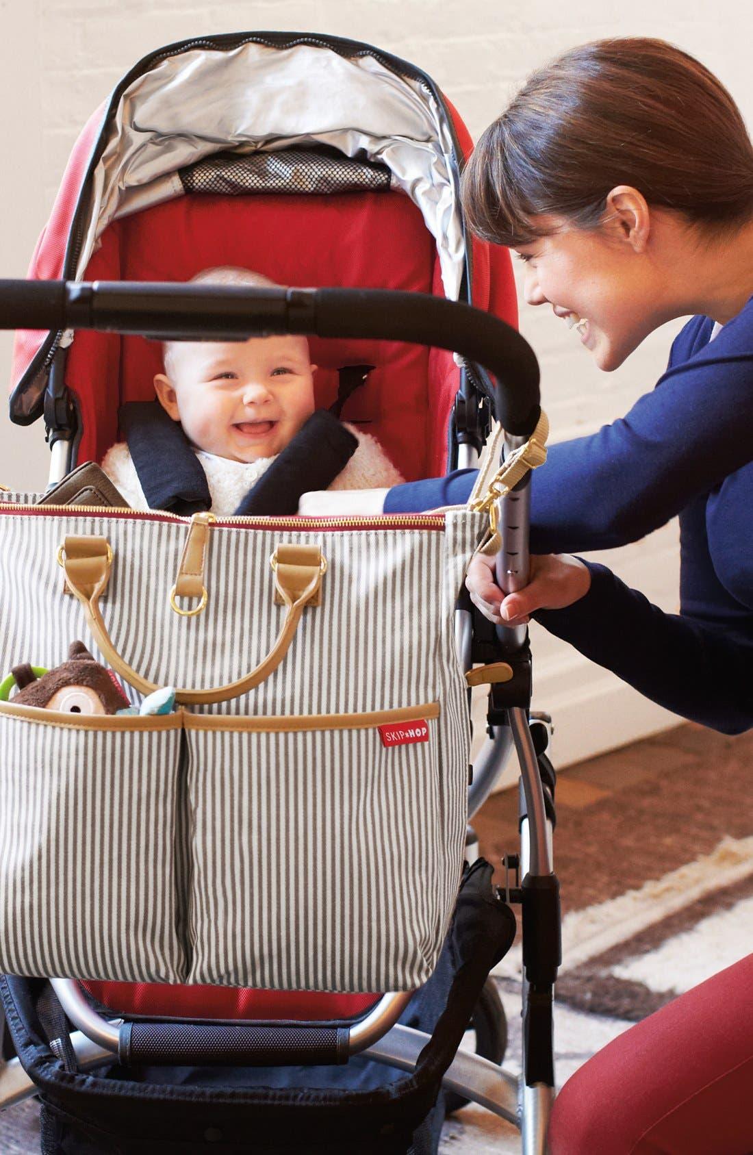 'Duo' Diaper Bag,                             Alternate thumbnail 9, color,                             Grey