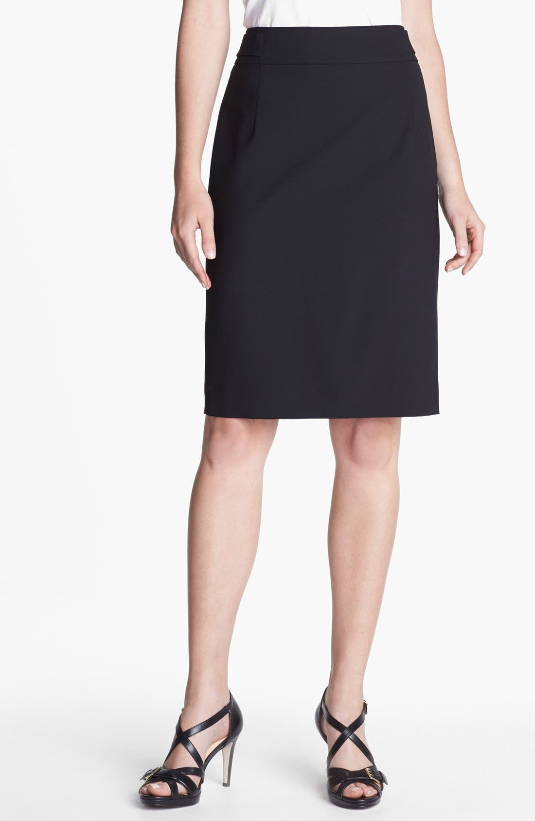 Main Image - Classiques Entier® Stretch Wool Skirt