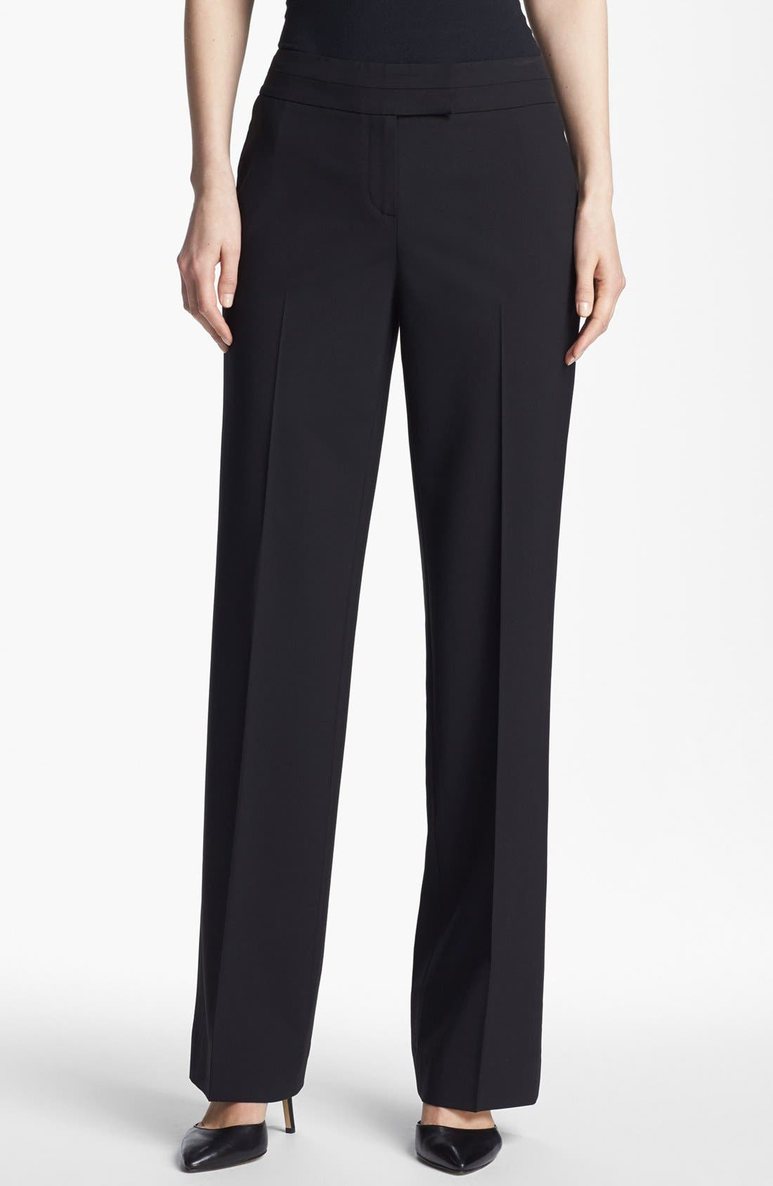 Alternate Image 1 Selected - Classiques Entier® Stretch Wool Trousers