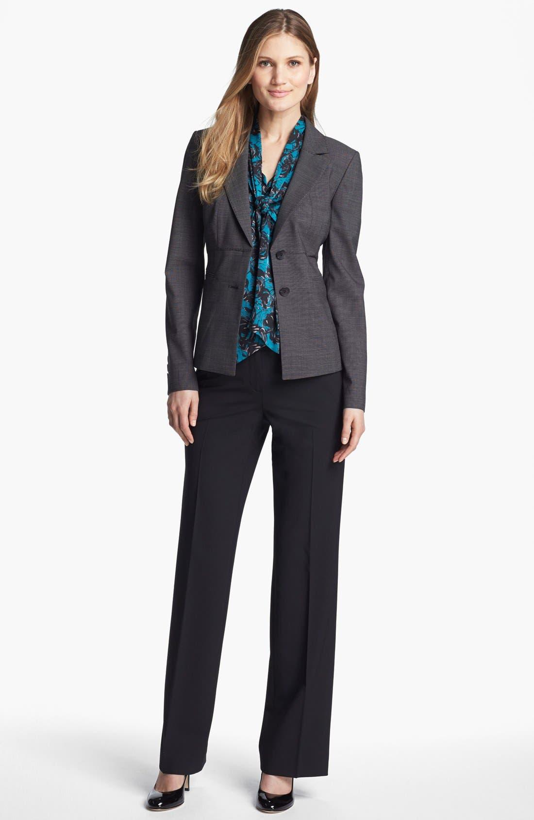 Alternate Image 3  - Classiques Entier® Tie Neck Stretch Silk Blouse