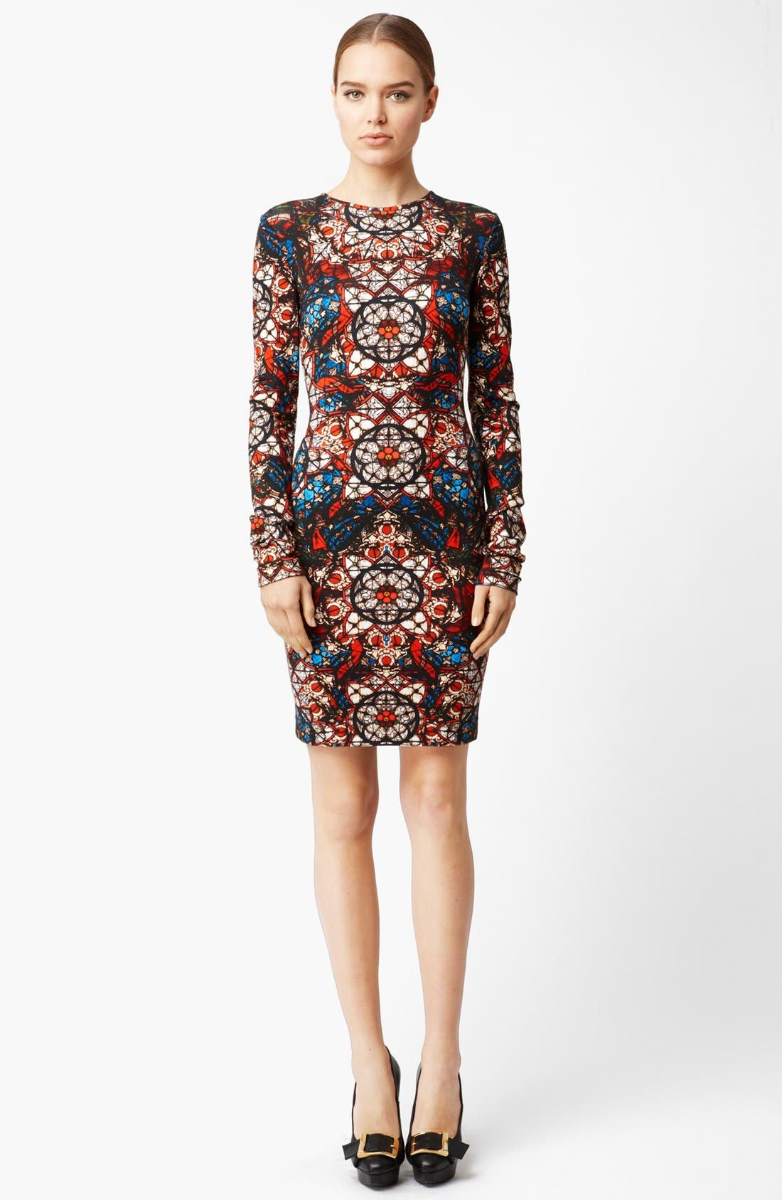 Main Image - Alexander McQueen Stained Glass Print Jersey Dress