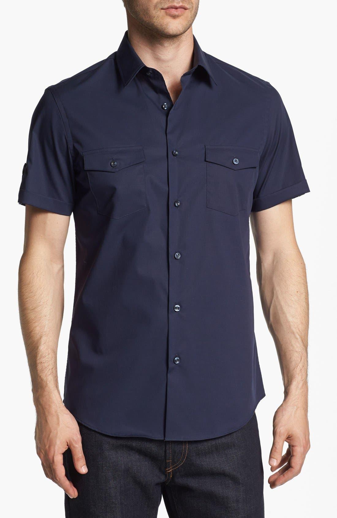 Alternate Image 1 Selected - Calibrate Trim Fit Short Sleeve Sport Shirt