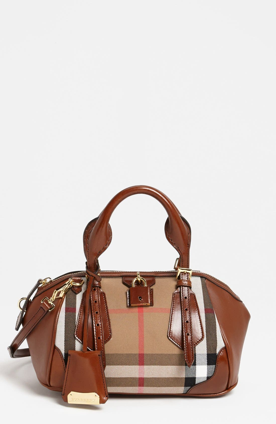 Main Image - Burberry 'House Check Blaze - Small' Tote