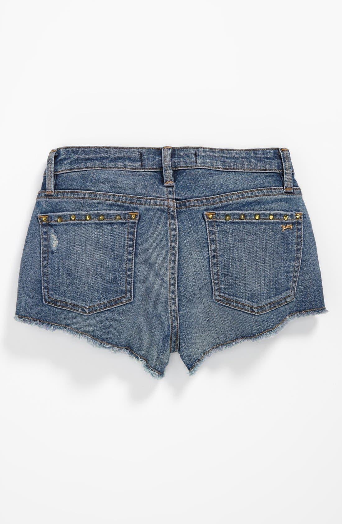 Alternate Image 1 Selected - Juicy Couture 'Core' Denim Cutoff Shorts (Big Girls)