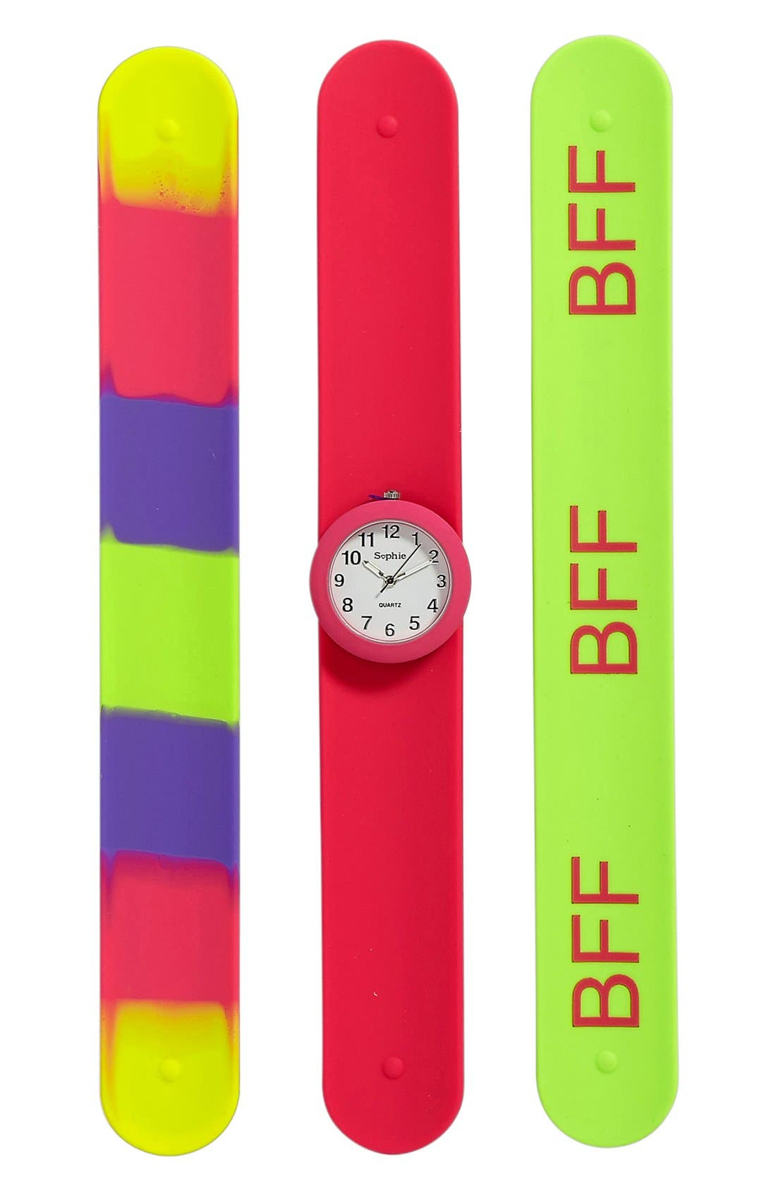 Alternate Image 1 Selected - Titanium Interchangeable Slap Watch (Girls)