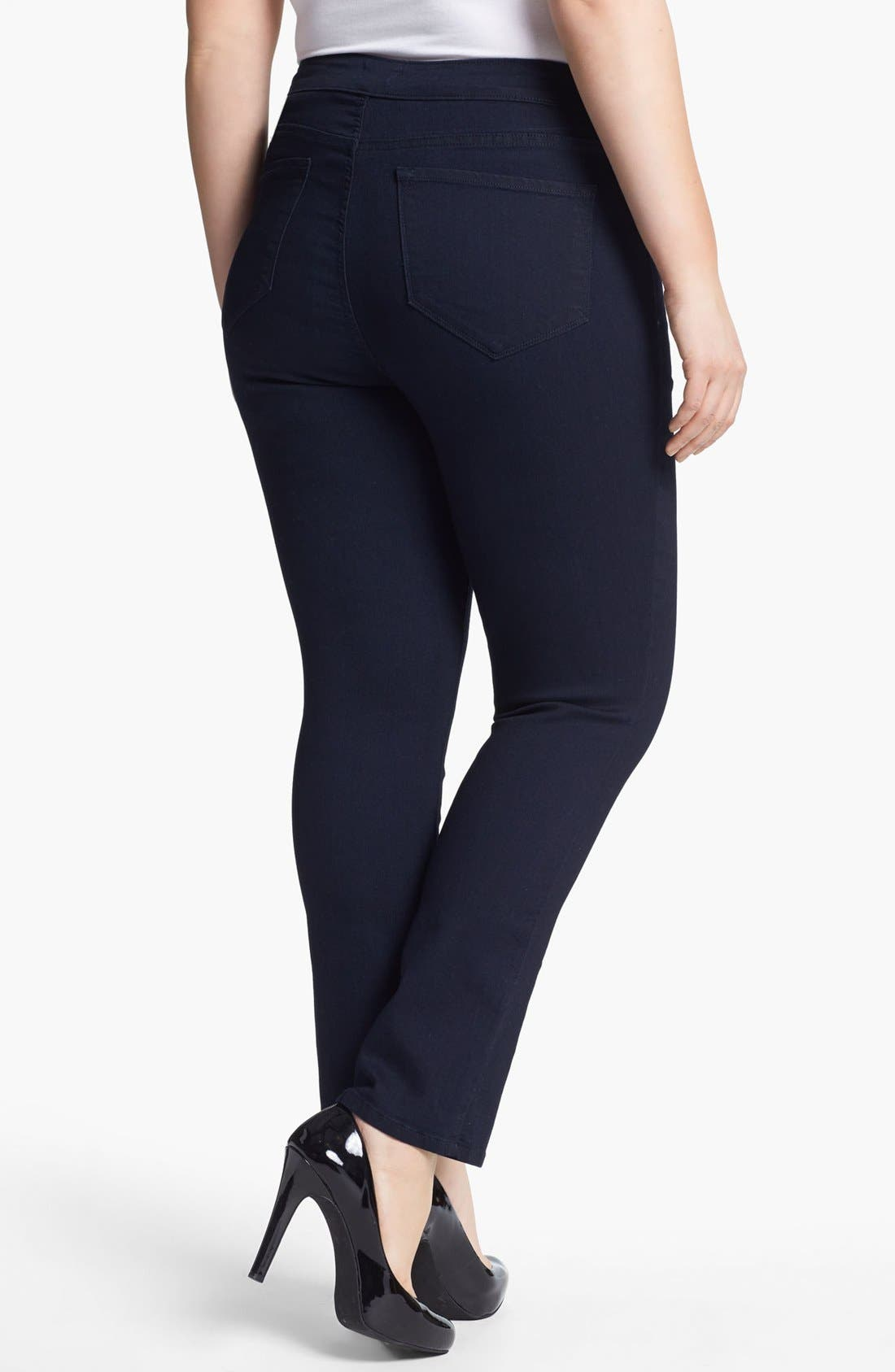 Alternate Image 2  - NYDJ 'Jaclyn' Stretch Skinny Jeans (Resin) (Plus Size)