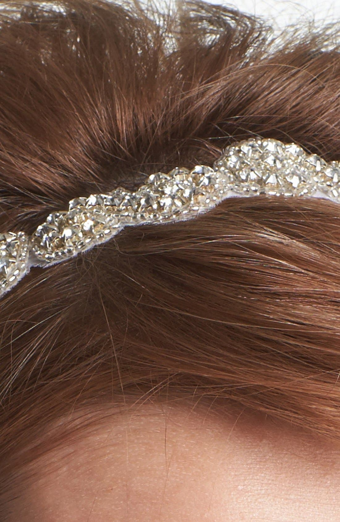 Alternate Image 2  - Tasha 'Crystal Beaded Ribbon' Head Wrap