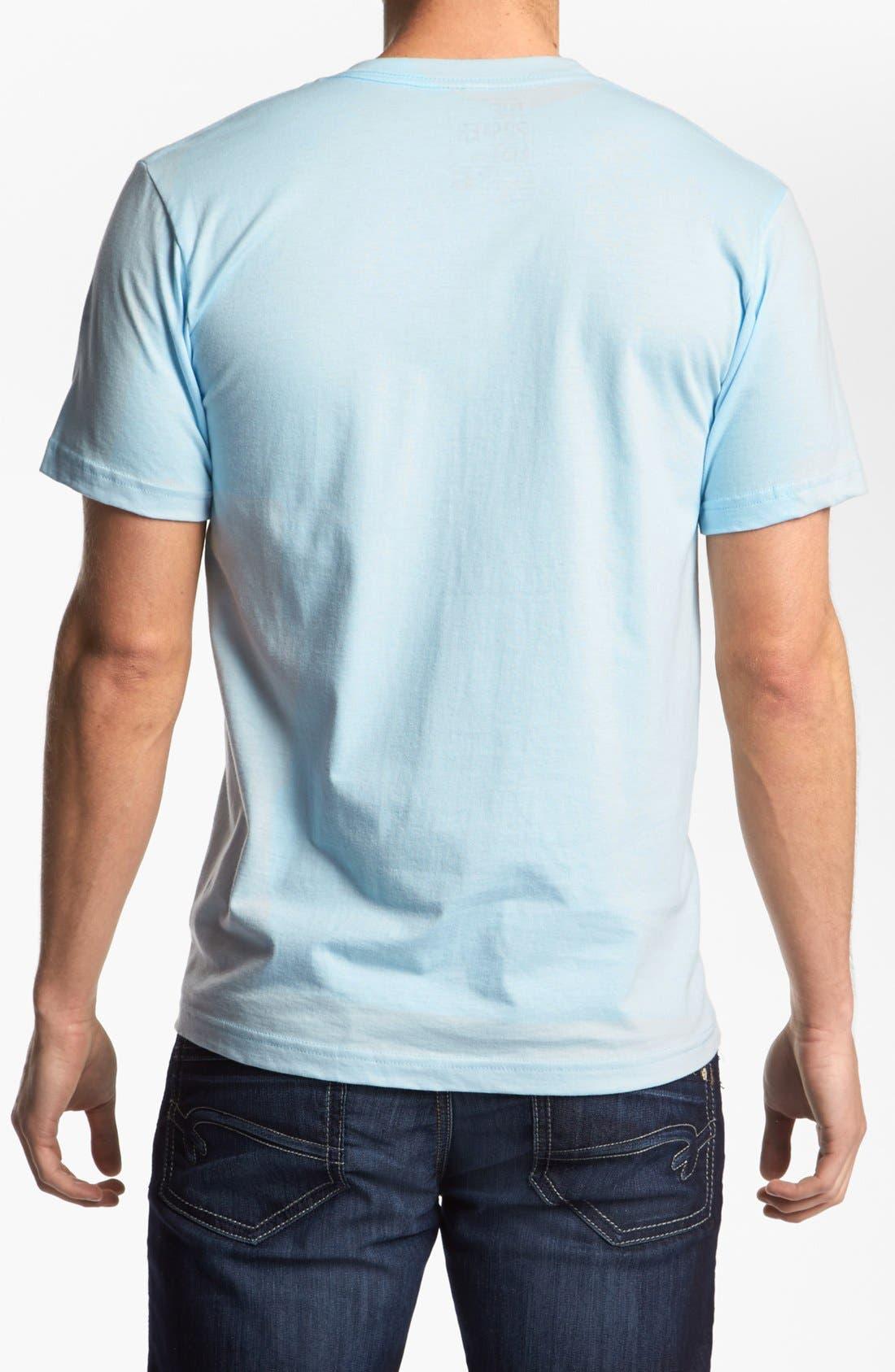 Alternate Image 2  - The Poster List 'Swirl Skull' T-Shirt