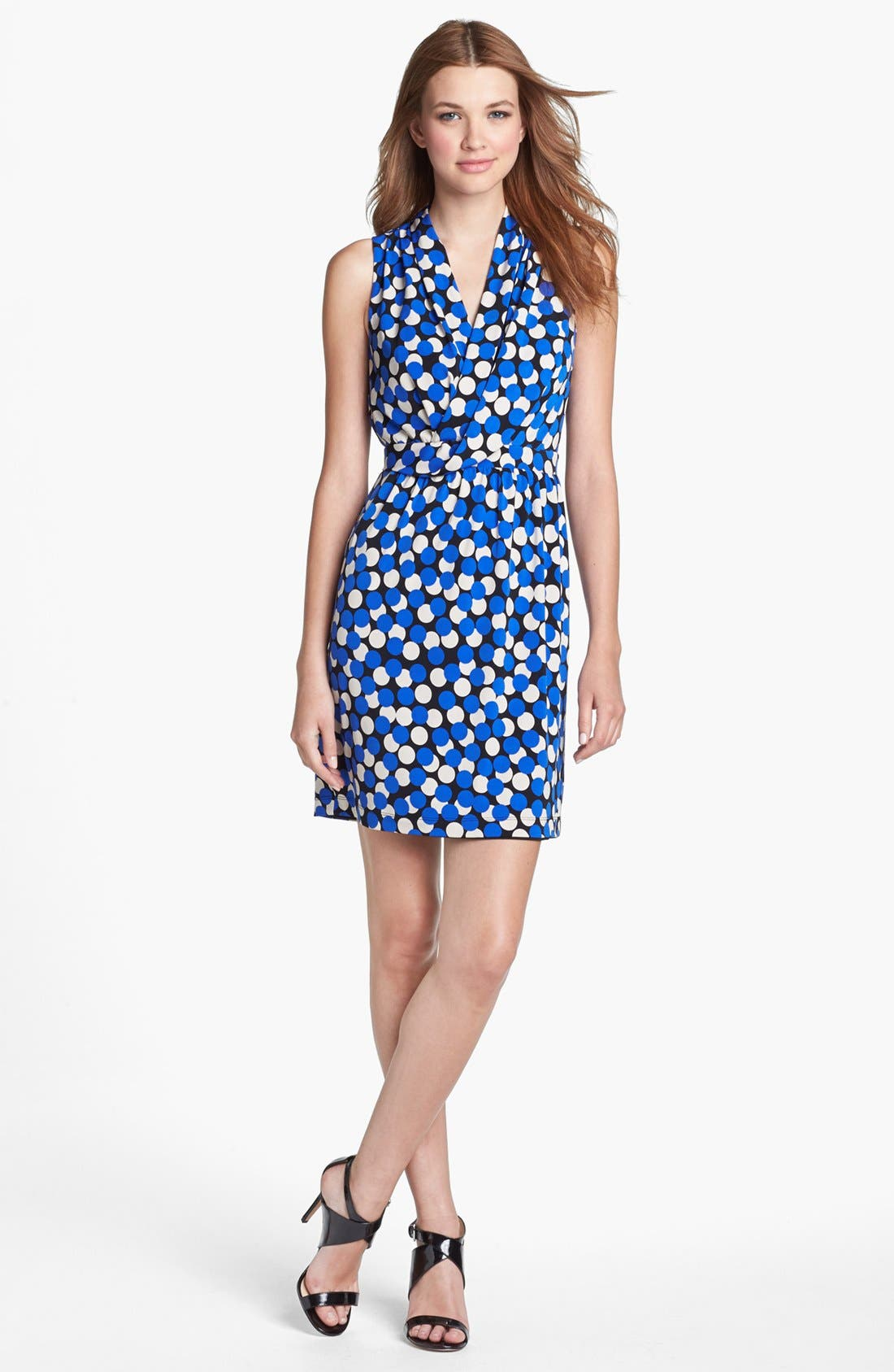 Main Image - Donna Ricco Dot Print Sheath Dress